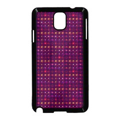 Funky Retro Pattern Samsung Galaxy Note 3 Neo Hardshell Case (black) by SaraThePixelPixie