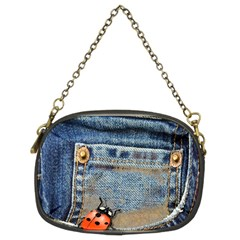 Blue Jean Lady Bug Chain Purse (two Sided)  by TheWowFactor