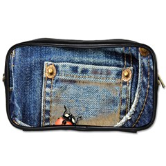 Blue Jean Butterfly Travel Toiletry Bag (two Sides) by AlteredStates