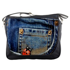 Blue Jean Butterfly Messenger Bag by AlteredStates