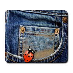 Blue Jean Butterfly Large Mouse Pad (rectangle) by AlteredStates
