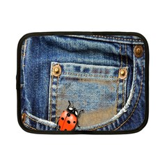 Blue Jean Butterfly Netbook Sleeve (small) by AlteredStates