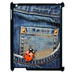 Blue Jean Butterfly Apple Ipad 2 Case (black) by AlteredStates