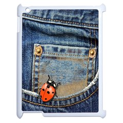 Blue Jean Butterfly Apple Ipad 2 Case (white) by AlteredStates