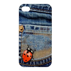 Blue Jean Butterfly Apple Iphone 4/4s Premium Hardshell Case by AlteredStates