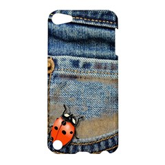 Blue Jean Butterfly Apple Ipod Touch 5 Hardshell Case by AlteredStates
