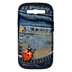 Blue Jean Butterfly Samsung Galaxy S Iii Hardshell Case (pc+silicone) by AlteredStates