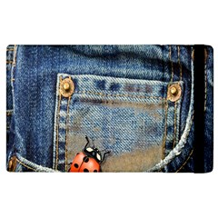 Blue Jean Butterfly Apple Ipad 3/4 Flip Case by AlteredStates