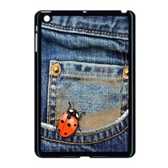 Blue Jean Butterfly Apple Ipad Mini Case (black) by AlteredStates