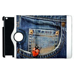 Blue Jean Butterfly Apple Ipad 3/4 Flip 360 Case by AlteredStates