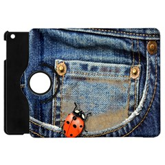 Blue Jean Butterfly Apple Ipad Mini Flip 360 Case by AlteredStates