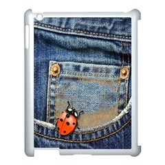 Blue Jean Butterfly Apple Ipad 3/4 Case (white) by AlteredStates