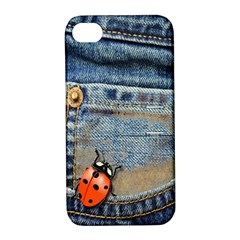 Blue Jean Butterfly Apple Iphone 4/4s Hardshell Case With Stand by AlteredStates