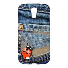 Blue Jean Butterfly Samsung Galaxy S4 I9500/i9505 Hardshell Case by AlteredStates