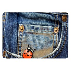 Blue Jean Butterfly Samsung Galaxy Tab 8 9  P7300 Flip Case by AlteredStates
