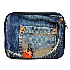 Blue Jean Butterfly Apple Ipad Zippered Sleeve by AlteredStates