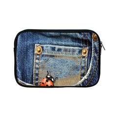Blue Jean Butterfly Apple Ipad Mini Zippered Sleeve by AlteredStates