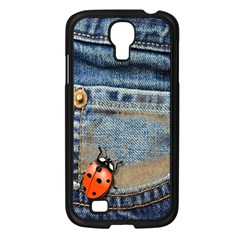 Blue Jean Butterfly Samsung Galaxy S4 I9500/ I9505 Case (black) by AlteredStates