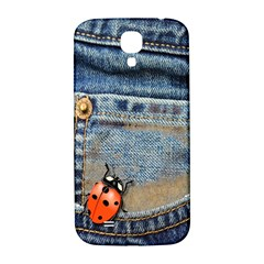 Blue Jean Butterfly Samsung Galaxy S4 I9500/i9505  Hardshell Back Case by AlteredStates