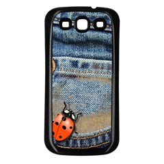 Blue Jean Butterfly Samsung Galaxy S3 Back Case (black) by AlteredStates