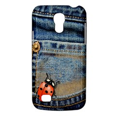 Blue Jean Butterfly Samsung Galaxy S4 Mini (gt I9190) Hardshell Case  by AlteredStates