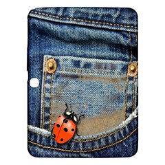 Blue Jean Butterfly Samsung Galaxy Tab 3 (10 1 ) P5200 Hardshell Case  by AlteredStates