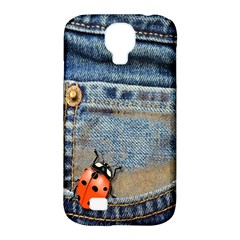 Blue Jean Butterfly Samsung Galaxy S4 Classic Hardshell Case (pc+silicone) by AlteredStates