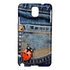 Blue Jean Butterfly Samsung Galaxy Note 3 N9005 Hardshell Case by AlteredStates