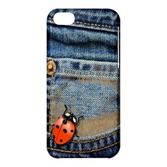 Blue Jean Butterfly Apple Iphone 5c Hardshell Case by AlteredStates