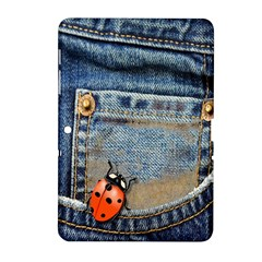 Blue Jean Butterfly Samsung Galaxy Tab 2 (10 1 ) P5100 Hardshell Case  by AlteredStates