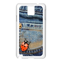 Blue Jean Butterfly Samsung Galaxy Note 3 N9005 Case (white) by AlteredStates
