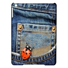 Blue Jean Butterfly Apple Ipad Air Hardshell Case by AlteredStates