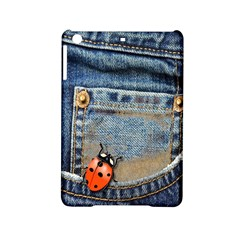 Blue Jean Butterfly Apple Ipad Mini 2 Hardshell Case by AlteredStates