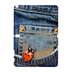 Blue Jean Butterfly Samsung Galaxy Note 10 1 (p600) Hardshell Case by AlteredStates