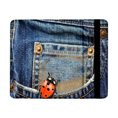 Blue Jean Butterfly Samsung Galaxy Tab Pro 8 4  Flip Case by AlteredStates