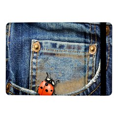 Blue Jean Butterfly Samsung Galaxy Tab Pro 10 1  Flip Case by AlteredStates