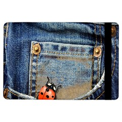 Blue Jean Butterfly Apple Ipad Air Flip Case by AlteredStates
