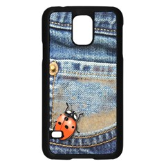 Blue Jean Butterfly Samsung Galaxy S5 Case (black) by AlteredStates