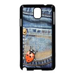 Blue Jean Butterfly Samsung Galaxy Note 3 Neo Hardshell Case (black) by AlteredStates
