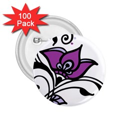 Awareness Flower 2 25  Button (100 Pack) by FunWithFibro