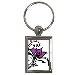 Awareness Flower Key Chain (rectangle) by FunWithFibro