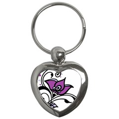 Awareness Flower Key Chain (heart)