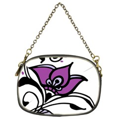Awareness Flower Chain Purse (two Sided)