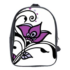 Awareness Flower School Bag (large)