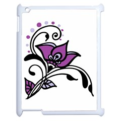Awareness Flower Apple Ipad 2 Case (white) by FunWithFibro