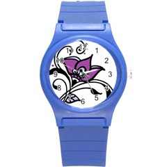 Awareness Flower Plastic Sport Watch (small) by FunWithFibro