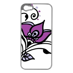 Awareness Flower Apple Iphone 5 Case (silver) by FunWithFibro