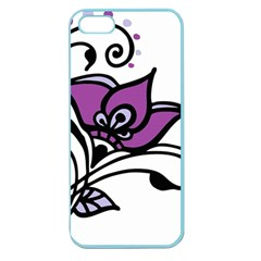 Awareness Flower Apple Seamless Iphone 5 Case (color) by FunWithFibro
