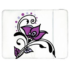 Awareness Flower Samsung Galaxy Tab 7  P1000 Flip Case by FunWithFibro