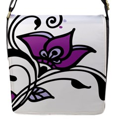 Awareness Flower Flap Closure Messenger Bag (small) by FunWithFibro